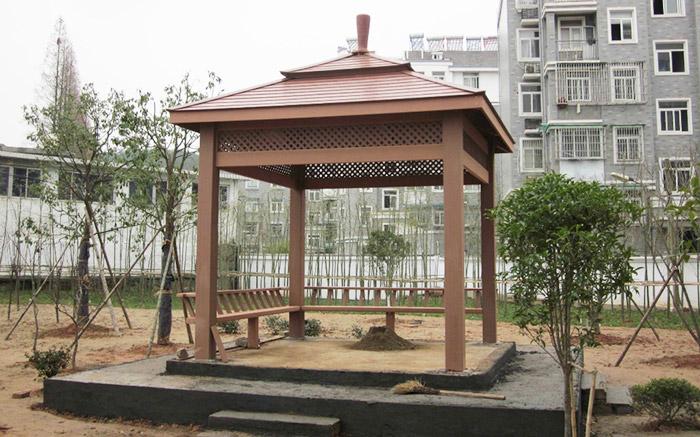 宿迁世纪花园塑木凉亭案例