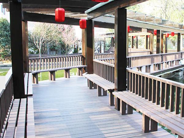 碧桂园项目塑木地板案例