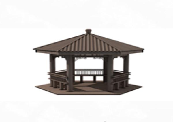 中式六角亭